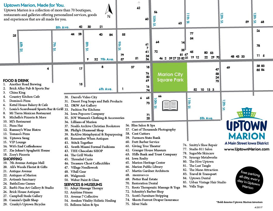 Uptown Marion Map (June2017)