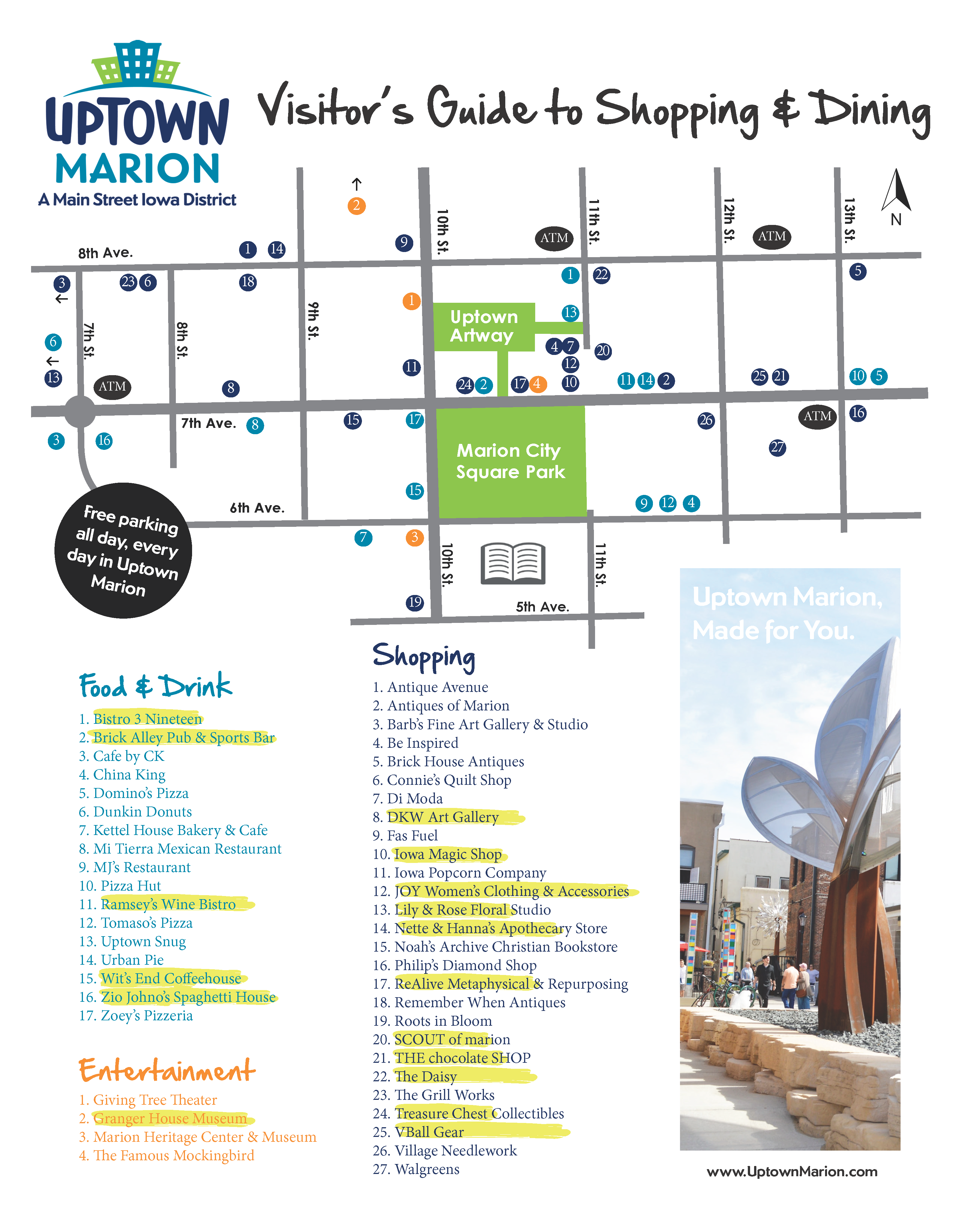 District Map – Uptown Marion